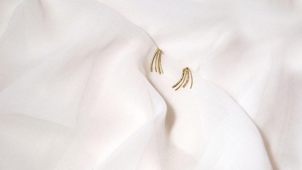 Boucles d'oreille TRENO dorées