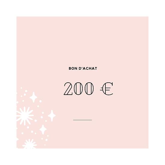 Bon cadeau 200,-€