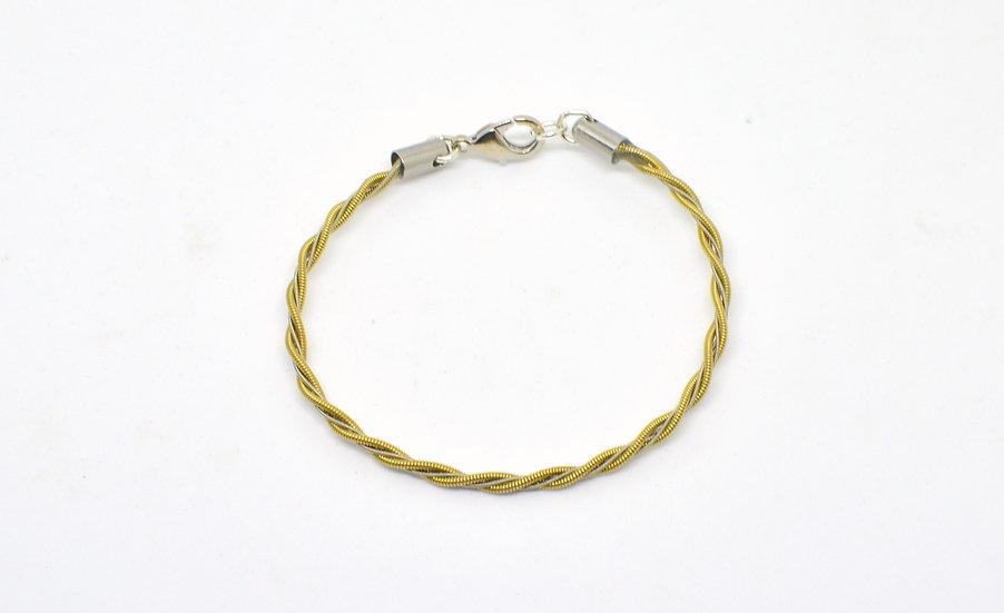 Bracelet rocade fin - bicolore