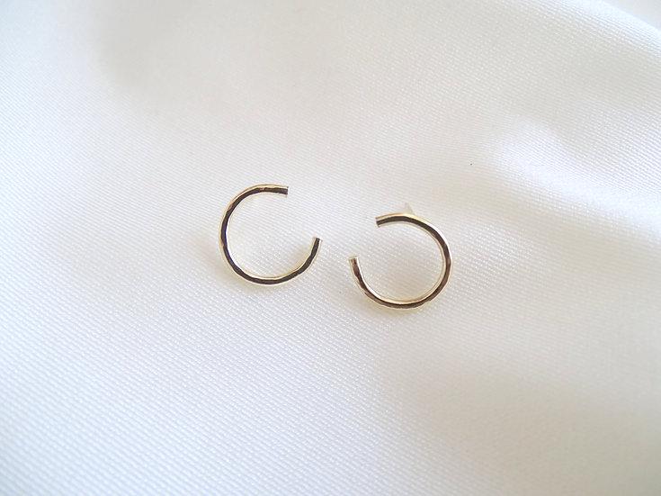 Boucles d'oreille NUAVOM dorées