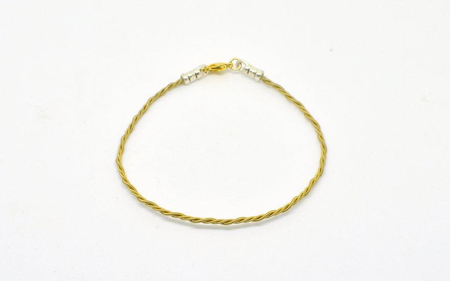 Bracelet torsadé fin - doré