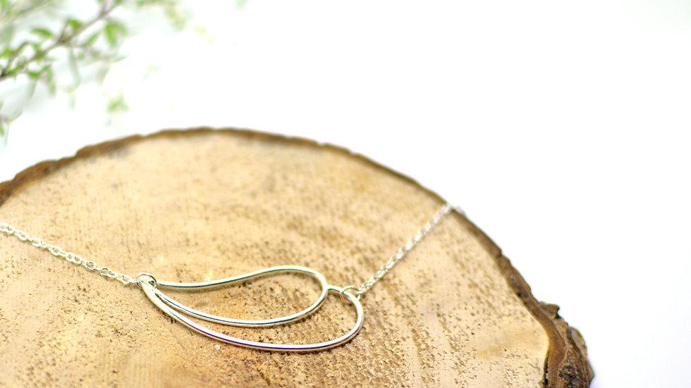 Double drop - Silver necklace