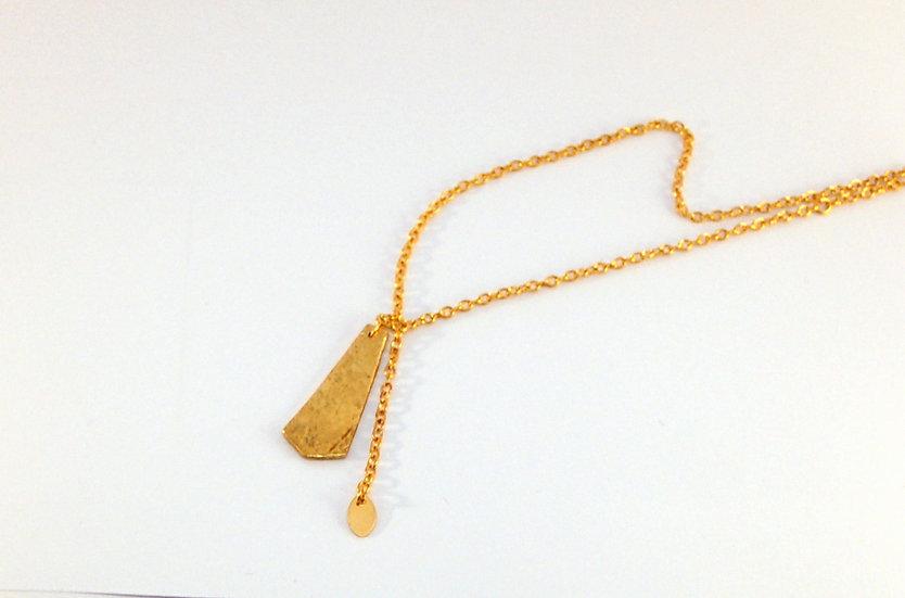 Collier YASAN / laiton doré et argent