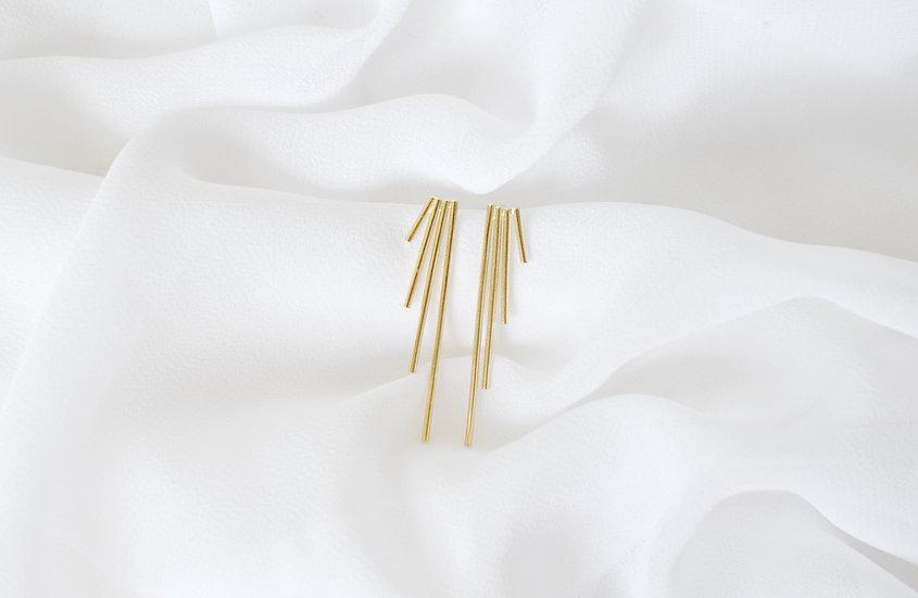 Boucles d'oreille PANBO dorées
