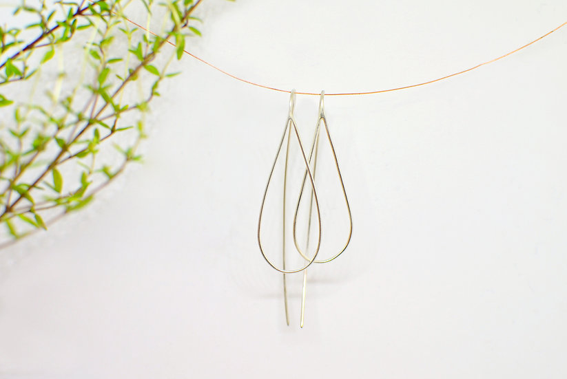 Simple drop - Silver earrings