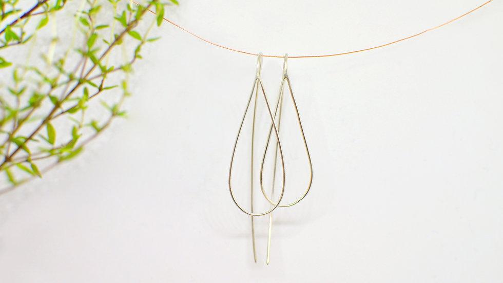 Simple drop - Silver earrings