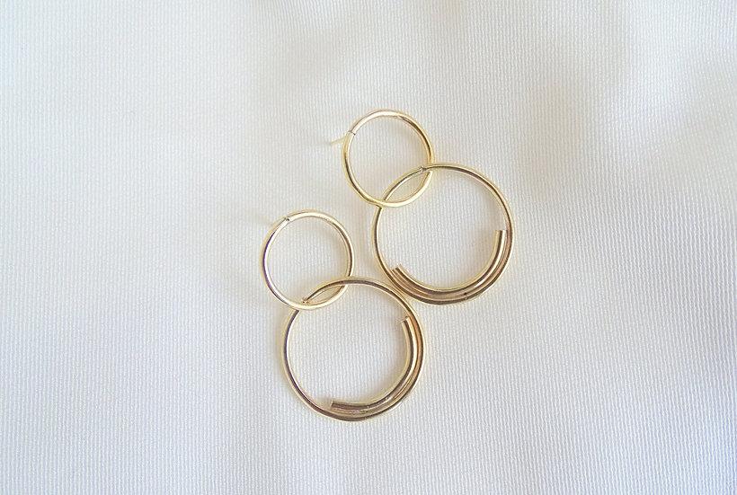 Boucles d'oreille MYANBO dorées