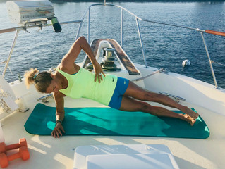 Yes, you can workout on board