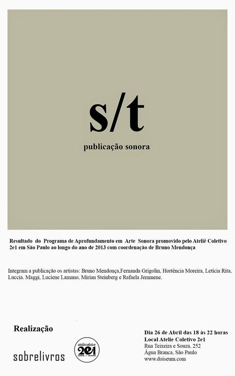s/t - PUBLICAÇÃO SONORA