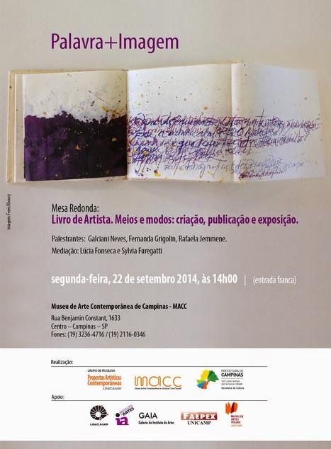 Mesa Redonda: Livros de Artista/Publicação/Expografia