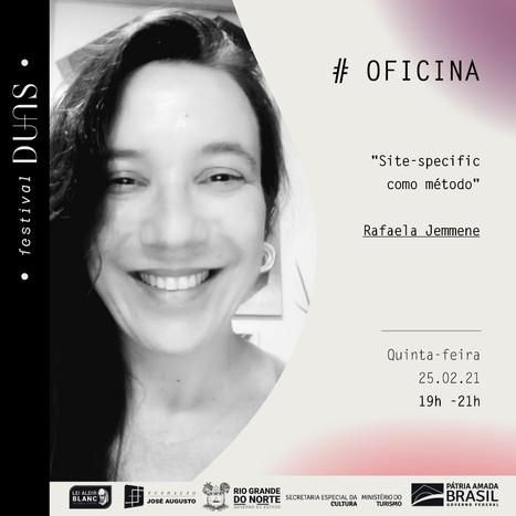 Oficina: Site-specific como método - por Rafaela Jemmene