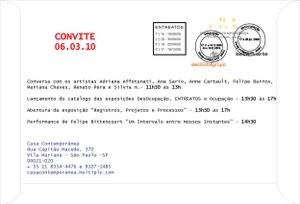Exposição - Registros, Processos e Projetos e Lançamento do catálogo 2009