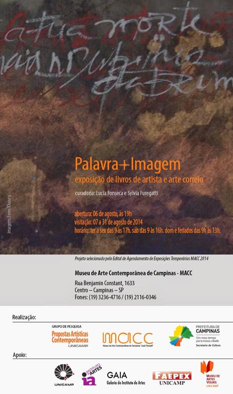 Palavra+Imagem: exposição de livros de artista e arte correio