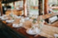 Arrangement de table élégante