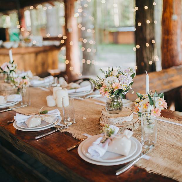 Reception wedding decoration.