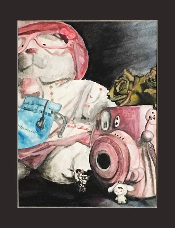 Painting - Teddy Bear Still Life