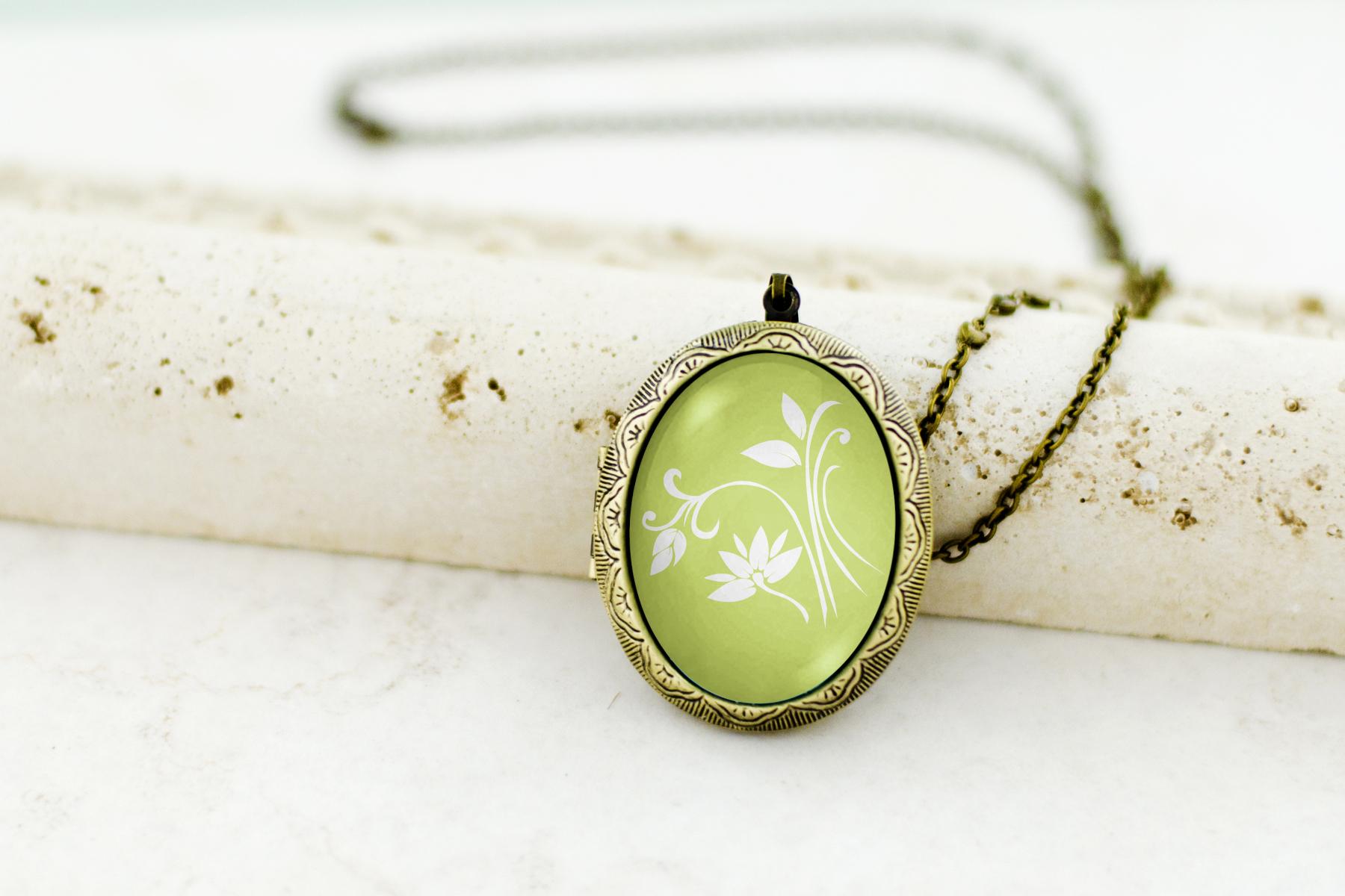 art locket necklace