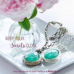photo locket necklaces