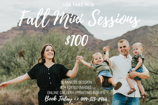 Fall Mini Sessions 2018