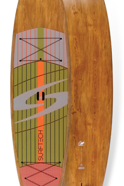 """2021 Surftech Lido Package 11'6""""x33"""" Utility Armour Wood/Orange"""