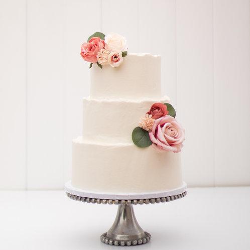 The Adrianna | Deckled Edged Wedding Cake - 50% DEPOSIT