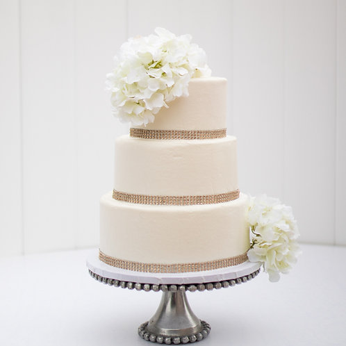 The Krystal | Bling Wrapped Wedding Cake - 50% DEPOSIT