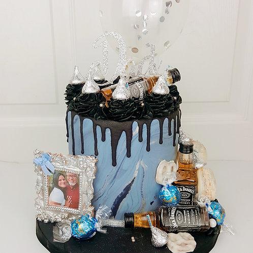 Marble Blue Cake