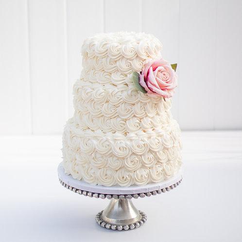 The Gabriela   Rosettes Wedding Cake - 50% DEPOSIT