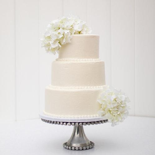 The Victoria | Beaded Pearls Wedding Cake - 50% DEPOSIT