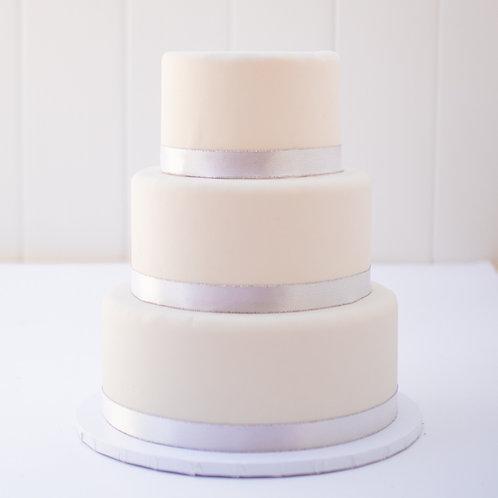 The Mercedes   Fondant Wrapped Wedding Cake - 50% DEPOSIT