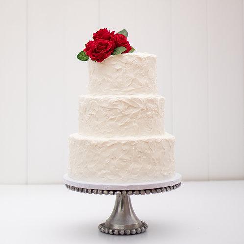The Carmen   Rustic Stucco Wedding Cake - 50% DEPOSIT