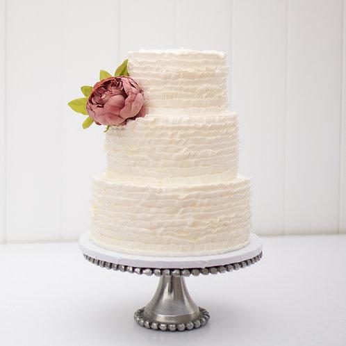 The Sofia   Vintage Ruffle Wedding Cake - 50% DEPOSIT