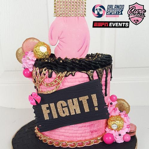 KNOCKOUT CAKE   Breast Cancer Awareness