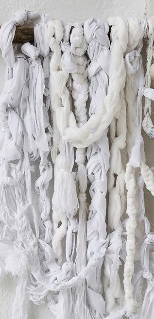 Bespoke weaving - Whitewashed - Details