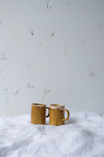 Set of two ceramic mugs