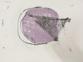 Plaster +Ink + Light = Installation