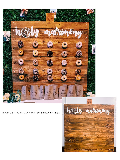 Table Top Donut Display