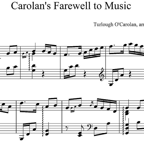 Carolan's Farewell to Music - downloadable PDF