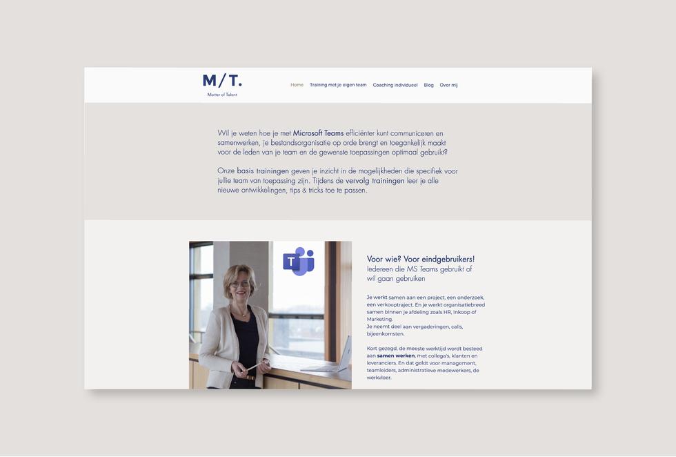 Website - projecten_Matter of talent web