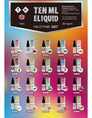 Ten ML E-liquid Nic Salt 20mg
