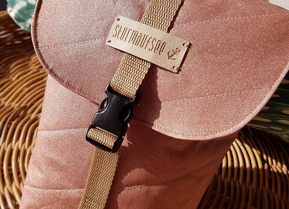 Windeltasche - Nappy Bag - Glitter Dusty Rose - handmade -  sturmaufsee