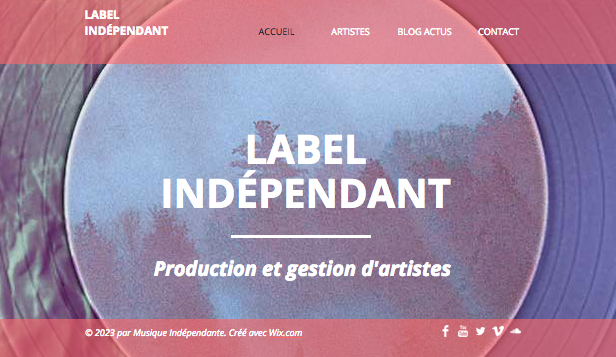 Producteurs website templates – Label Indépendant