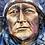 Thumbnail: Chief Iron Shell - encaustic wax on cradled panel 14x18