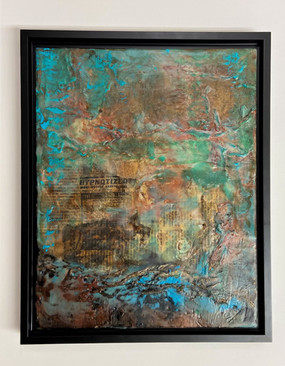 Zion III encaustic abstract