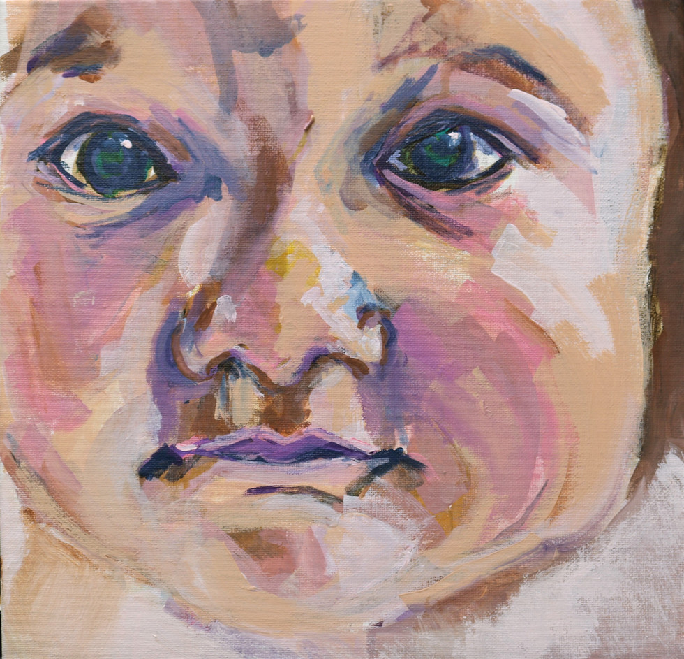 Zoom Babies, acrylic 12x12, alison fullerton art