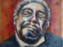 BB KING encaustic portrait