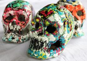 Day of the Dead Sugar Skulls. Encaustic_