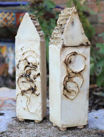 Encaustic wax houses