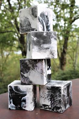 encaustic cubes