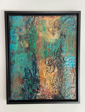 Zion I encaustic abstract